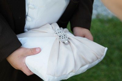 ring bearer pillows, champagne pillows