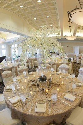 chamgpagne wedding linens, champagne wedding