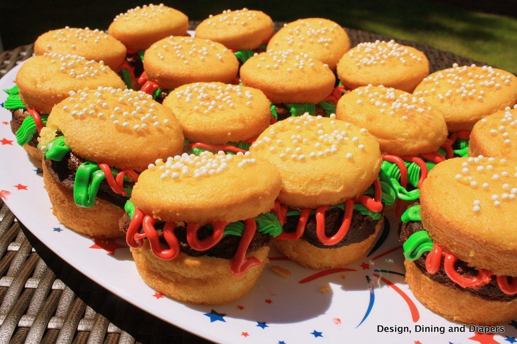 gluten free desserts, hamburger cupcakes, kid treats, bbq desserts