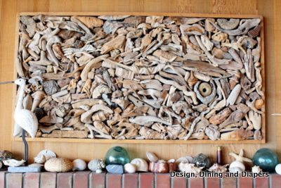 driftwood art, beach crafts