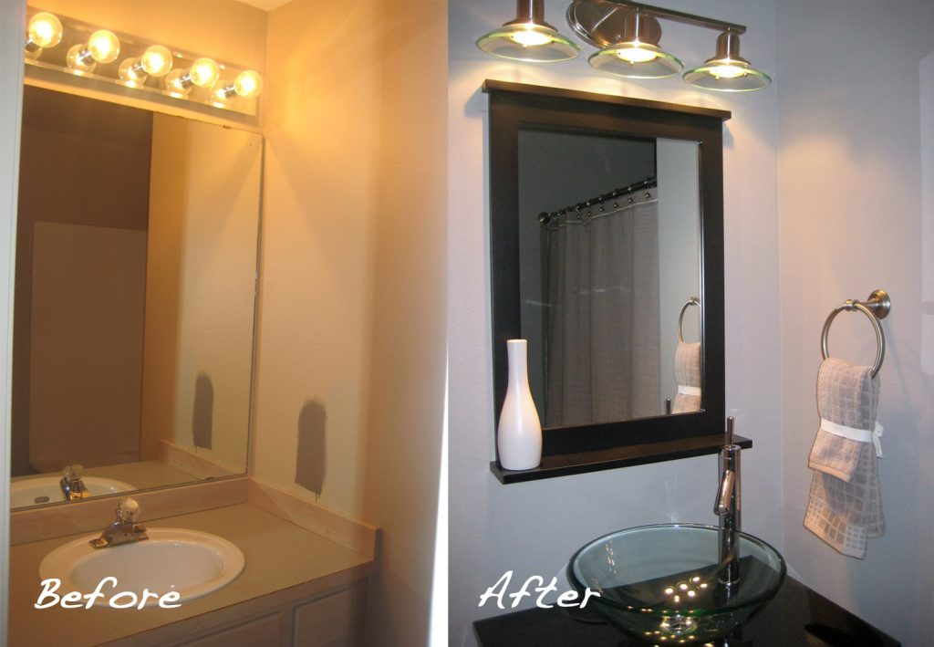 Diy guest bathroom remodel taryn whiteaker for Toilet renovation ideas