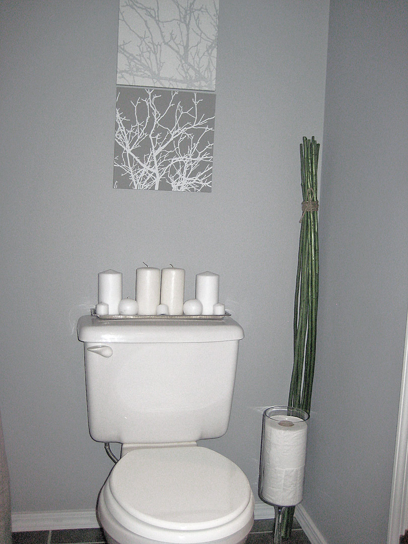 Modern Bathroom, Small Bathroom, Small Space, Gray And Espresso, Gray  Bathroom,