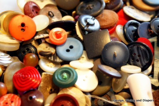 buttons, vintage buttons