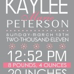 Kaylee Birth Print