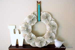Fall Wreath #2: Book Page Wreath