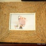 Upcycled Picture Frame Made with Jute