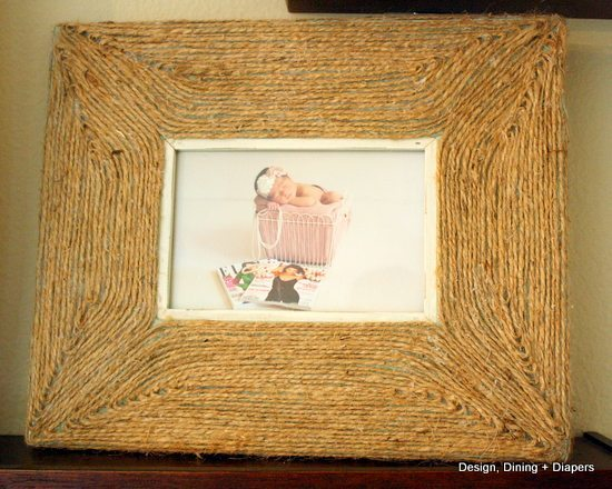 upcycled picture frames, jute projects, diy