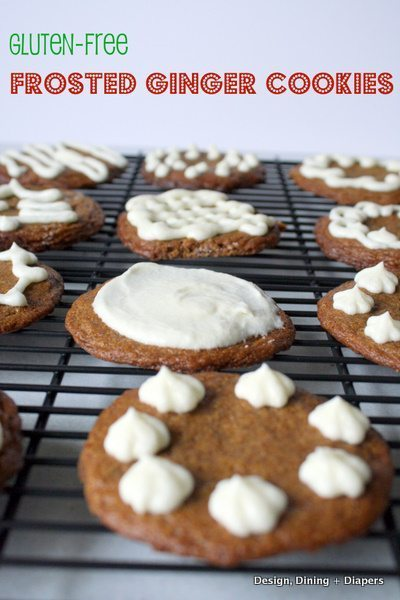 Gluten Free Frosted Ginger Cookies - Design, Dining + Diapers