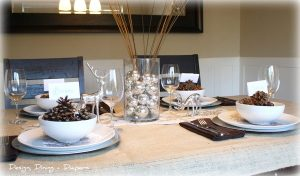 My Rustic Glam Christmas Table