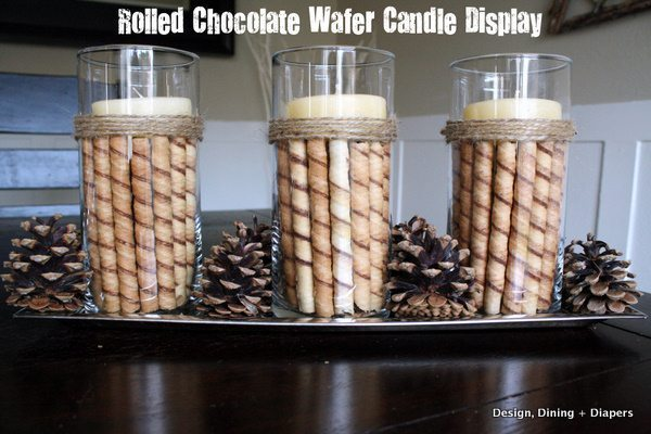 DIY christmas candle display