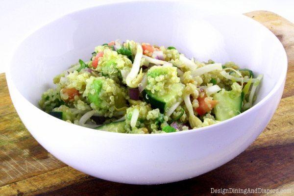 Avocado Quinoa Salad by Design, Dining + Diapers