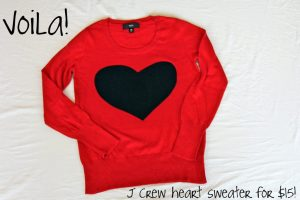 Day 8: J Crew Heart Sweater Knock-Off with Amy Day to Day