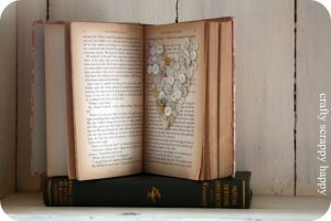 Day 10: Valentines Book Art with Crafty Scrappy Happy