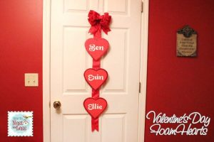 Day 6: Valentine's Day Door Hanger with How to Nest for Less