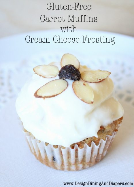 Carrot Muffins with Cream Cheese Frosting - Design, Dining + Diapers
