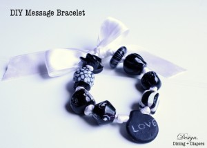 DIY Message Bracelet With Chalk Paint Beads