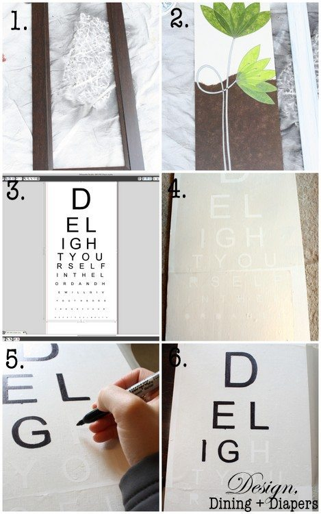 DIY Eye Chart Tutorial