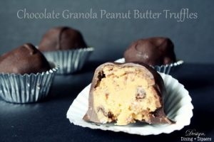 Chocolate Granola Peanut Butter Truffles
