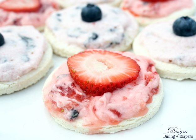 GF Shortbread Cookies with Berry Buttercream Frosting