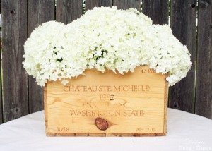 How to Turn An Old Crate Into A Floral Arrangement