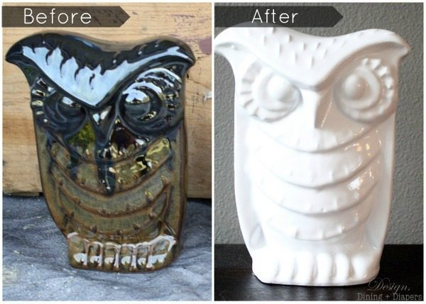 DIY White Ceramic Owl