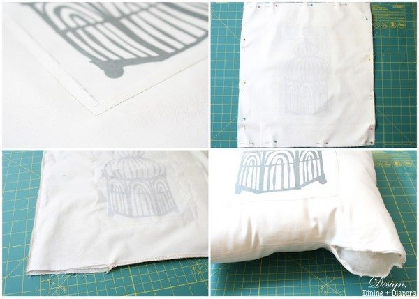 Bird Cage Pillow Tutorial
