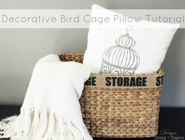 Decorative Bird Cage Pillow