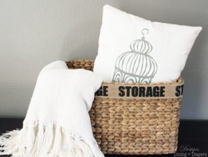 Decorative Birdcage Pillow Tutorial
