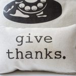 Give Thanks Pillow Tutorial from Design, Dining + Diapers