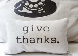 Give Thanks Drop Cloth Pillow