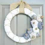 fabric pumpkin wreath, fall wreath, diy pumpkins, neutral fall wreath, burlap wreath, white fall wreath, fabric wreath, neutral fall decor