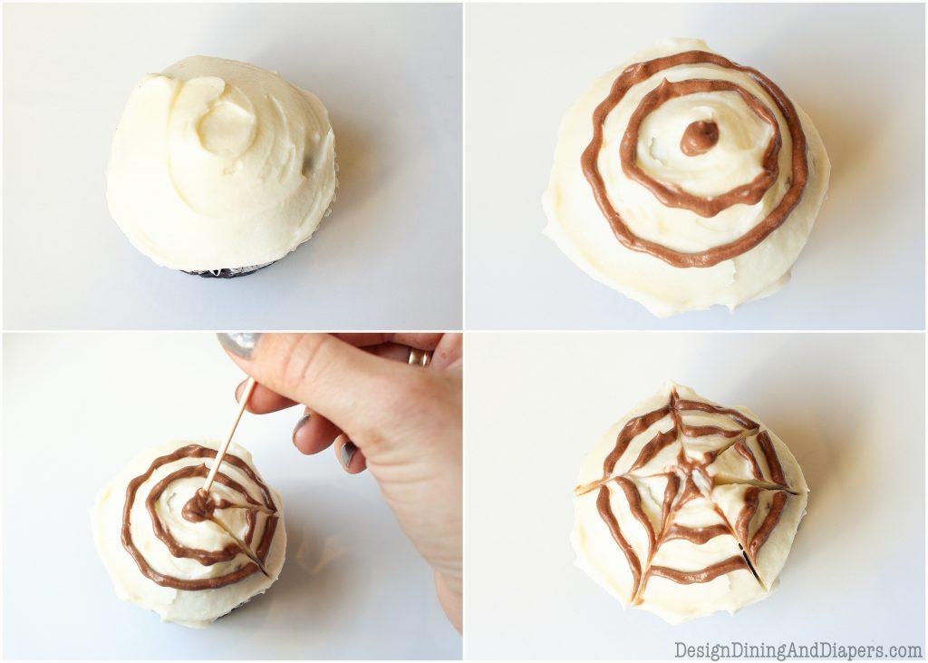 Chocolate Spider Web Cupcakes Taryn Whiteaker