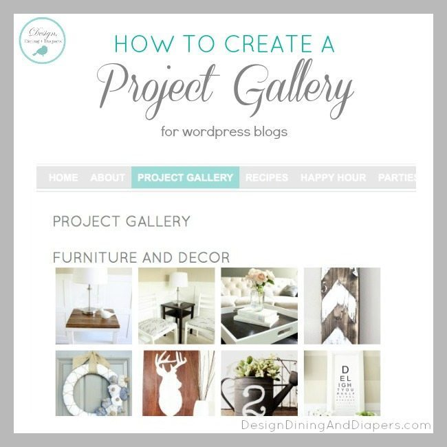 how to create project gallery