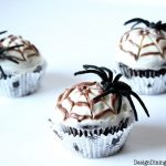 Chocolate Spiderweb Cupcakes, Halloween treats, spiderweb treats, chocolate cupcakes, gluten-free desserts, gluten-free cupcakes, halloween desserts, Halloween party food