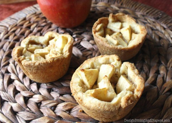 apple pie cups, gluten-free, fall desserts, apple desserts, pie bites, egg-free