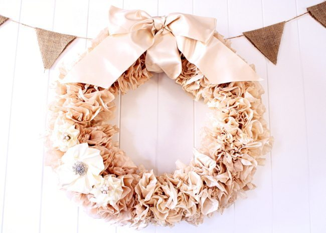 Tea Stained Coffee Filter Wreath.JPG