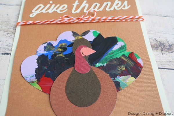 Cute Turkey Cards Using Kid's Artwork, crafts with kid's artwork, using kid's artwork in projects, Thanksgiving cards, Kid's Turkey Crafts, Turkey Cards,