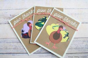 Cute Turkey Cards Using Kid's Artwork