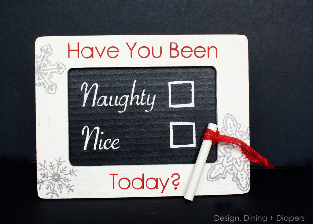 Naughty or Nice Chalkboard Frame by Design, Dining + Diapers