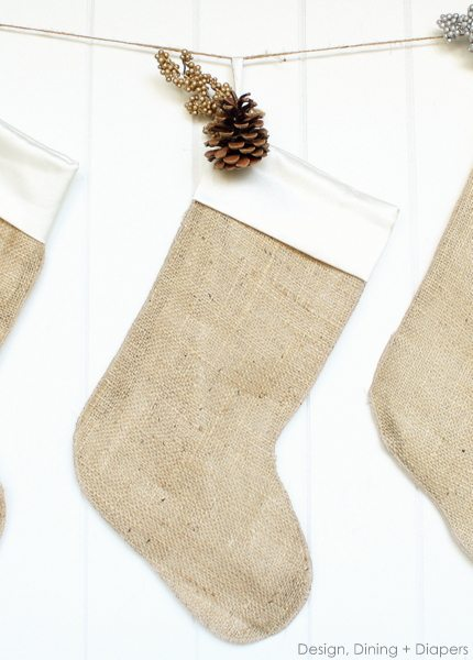burlap christmas stockings by design dining diapers diy christmas stockings burlap christmas - Burlap Christmas Stocking