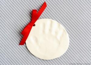 Making Handprint Ornaments