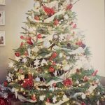 Rustic Red & Gray Christmas Tree