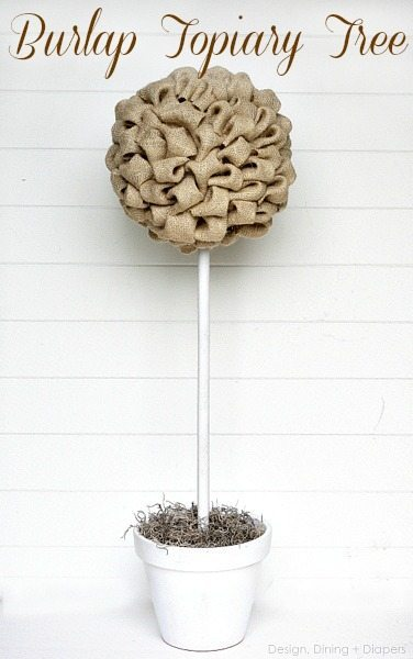 Burlap Topiary Tree 2 by Design, Dining + Diapers