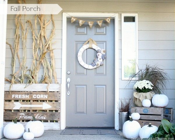 Fall Porch by Design, Dining + Diapers