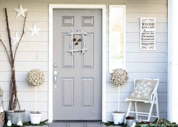 Rustic Winter Porch by Design, Dining + Diapers