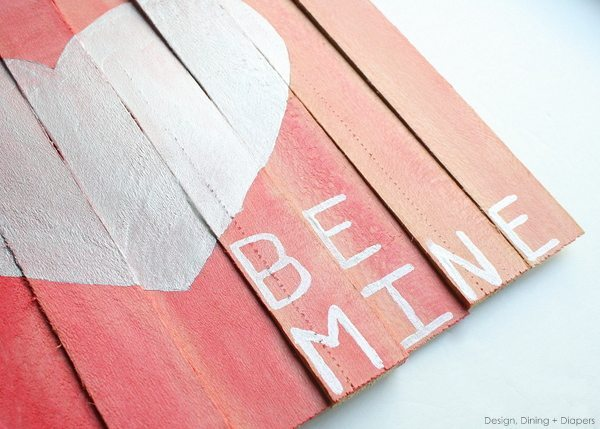 Mini Pallet Valentine's Day Art by Design, Dining + Diapers