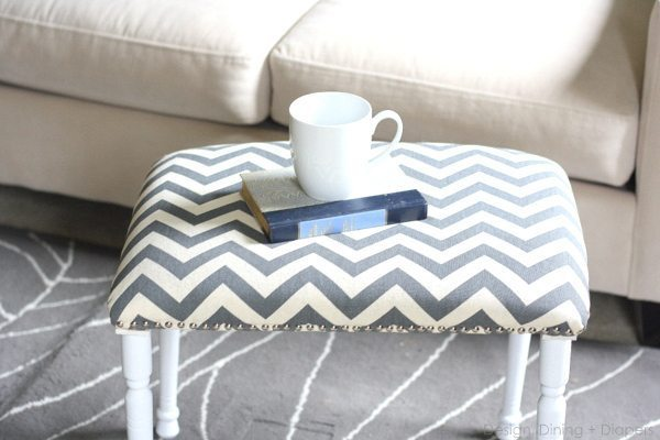 Thrift-It Challenge, goodwill makeovers, repurposed projects, DIY bench, DIY stool, chevron bench