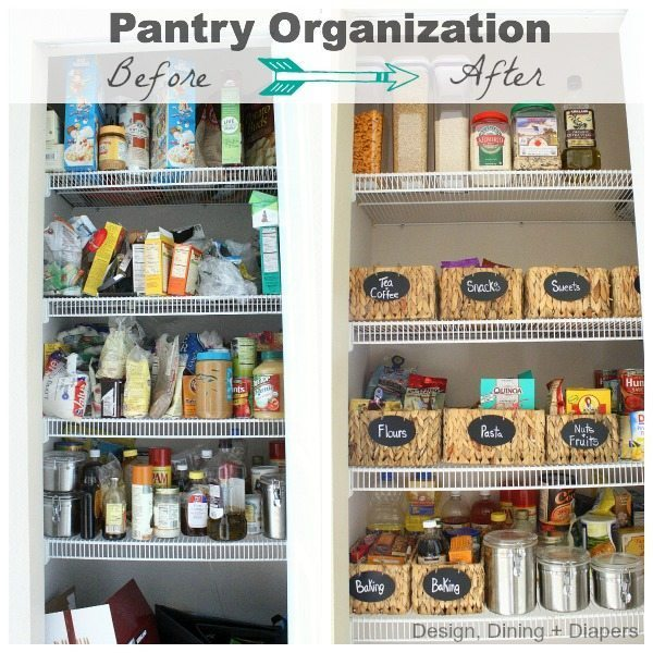 Pantry Before and After by Design, Dining + Diapers