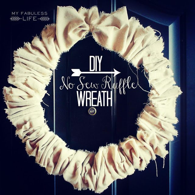 diy ruffle wreath twm
