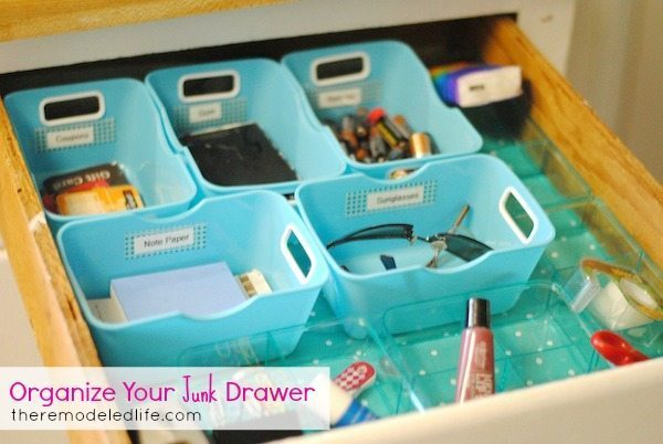 pretty and organized junk drawer
